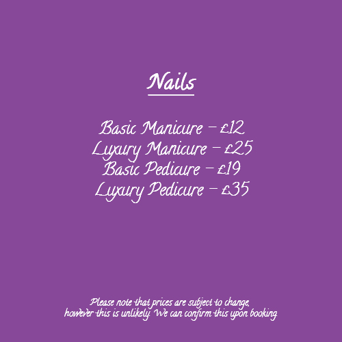 Nails Waxing Wax Body Treatment Prices Touch of Silk 001